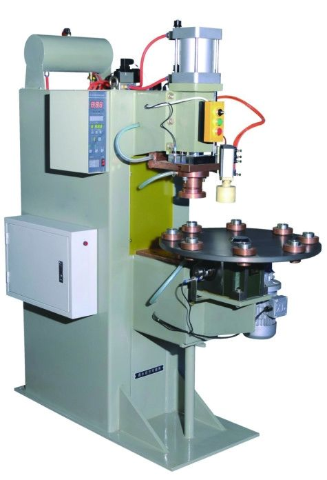 Spot Welding Oil Filter Making Machine Eight Station With Turntable Bottom Plate