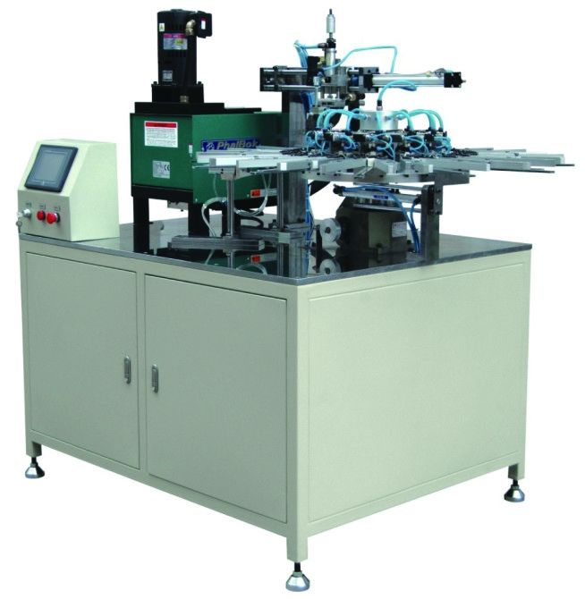 6KW ECO Filter Machine , Turntable Hot Melt Clipping Filter Making Machine